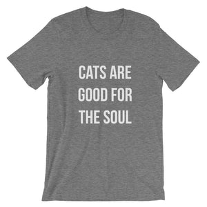 Cats are Good for the Soul Short-Sleeve Unisex T-Shirt - Kai's Ruff Wear