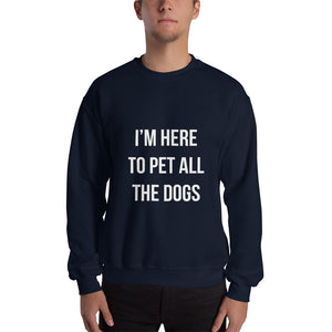 Here to Pet All the Dogs Sweatshirt - Kai's Ruff Wear