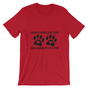 Service Dogs Save Lives Short-Sleeve Unisex T-Shirt - Kai's Ruff Wear