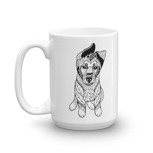 German Shepherd Puppy Mandala Mug