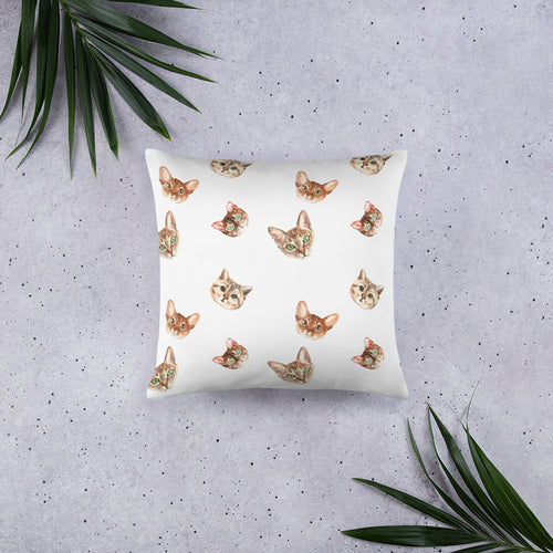 Cat Pattern Pillow