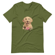 Load image into Gallery viewer, Floral Golden Retriever Shirt