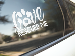Love Rescued Me Decal