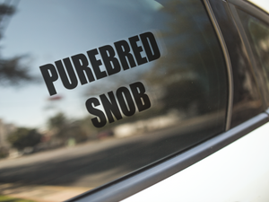 Purebred Snob Car Decal