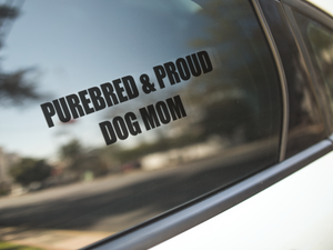 Purebred & Proud Car Decal