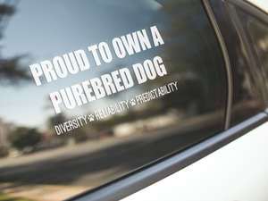 Proud Purebred Dog Owner Decal