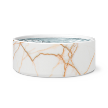 Load image into Gallery viewer, Rose Gold Marble Dog Bowl
