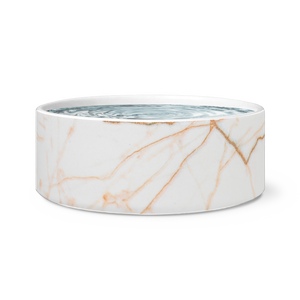 Rose Gold Marble Dog Bowl
