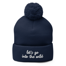 Load image into Gallery viewer, Into the Wild Pom Beanie