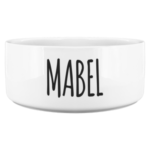 Custom Dog Bowl for Mabel