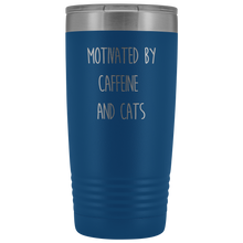 Load image into Gallery viewer, Cats and Caffeine Tumbler