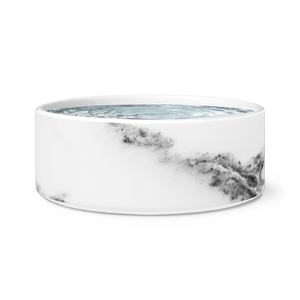 White Marble Dog Bowl