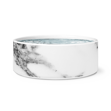 Load image into Gallery viewer, White Marble Dog Bowl
