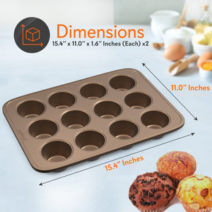 Non-Stick Oven Muffin Pan Sheets NC2TRCP3