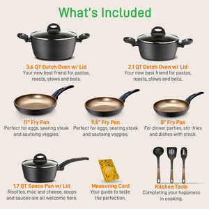 Home Kitchen Cookware Set NCCW12S