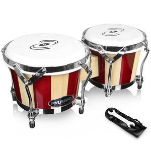 Wooden Shell Bongo Drums PBND10
