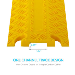 Cable Cover Ramp Safety Track, 1-Ch. PCBLCO101