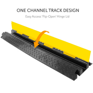 Cable Cover Ramp Safety Track, 1-Ch. PCBLCO102