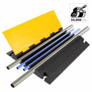 Cable Cover Ramp Safety Track, 4-Ch. PCBLCO108