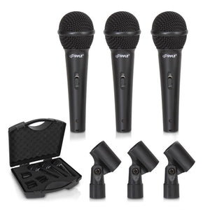 3 Dynamic Cardioid Vocal Microphones PDMICKT80