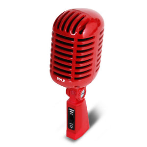 Classic Retro Vintage Microphone, Red PDMICR42R
