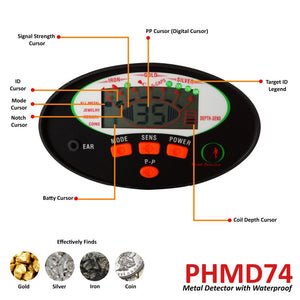 Metal Detector with Pin-Point Detect PHMD74