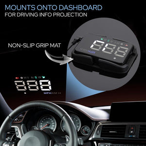 Vehicle Speed & GPS Compass HUD Monitor PHUD12
