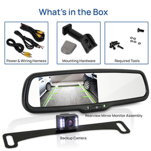 Car Camera & Rearview Mirror Display Kit PLCM4565