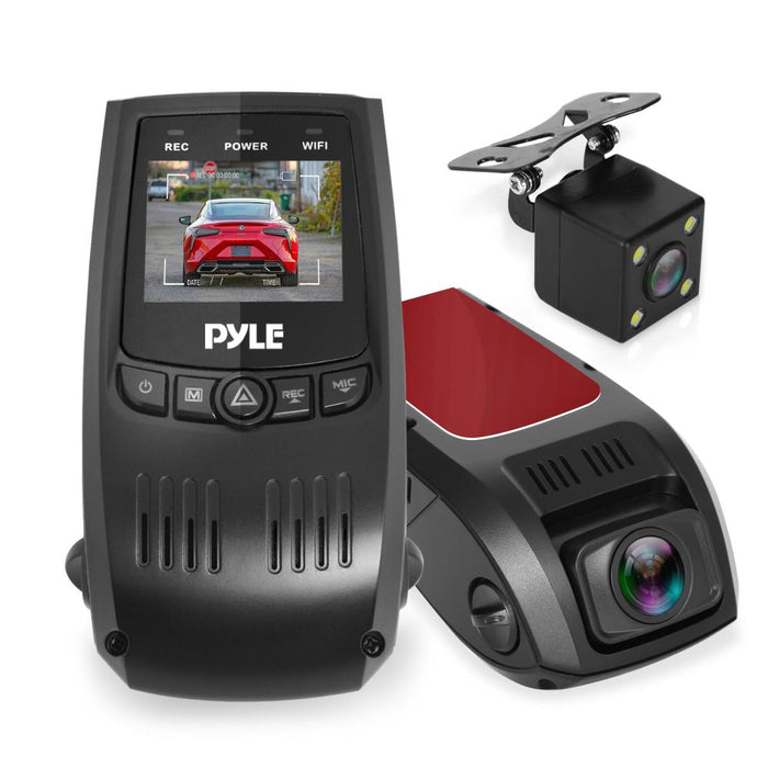 Dual Camera Car Dash Cam & Backup Camera PLDVRCAM74