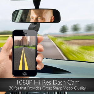 Compact Car Dash Cam Recorder with WiFi PLDVRWFI65
