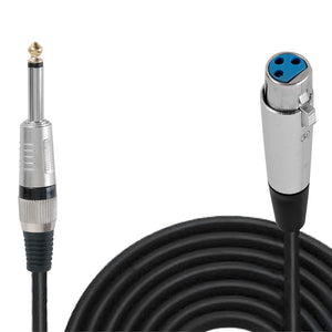 30' ft. 1/4'' Microphone Cable PPMJL30