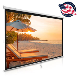 Easy Pull-Down Projector Screen 100-Inch PRJSM1006