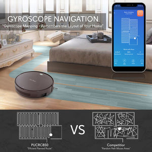 Robot Vacuum Cleaner with App Control PUCRC850