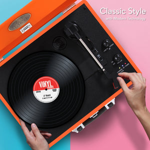 Portable Record Player Turntable PVTTBT6OR