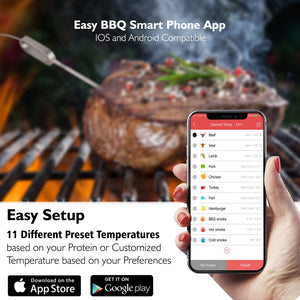 Smart Wireless BBQ Thermometer PWIRBBQ90