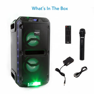 Portable PA Speaker & Microphone System PWMKRDJ89BT