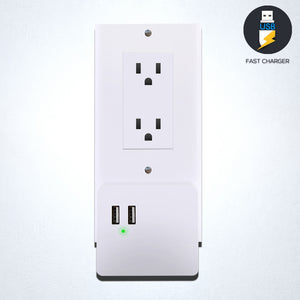 USB Charging Power Outlet Snap-On Cover PWPLGU204