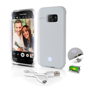 Lite-Me Selfie LED Light Galaxy S7 Case SL301S7WT