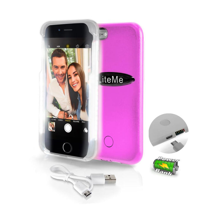 Lite-Me Selfie LED Lighted iPhone Case SLIP101PN