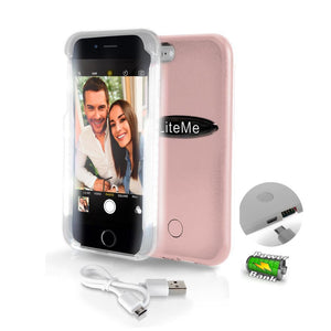 Lite-Me Selfie LED Lighted iPhone Case SLIP101RG
