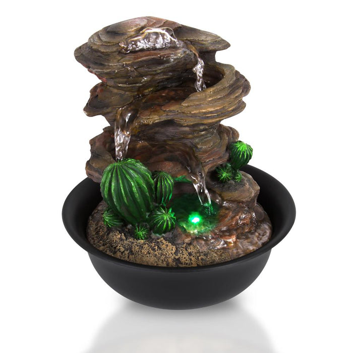 Decorative Tabletop LED Water Fountain SLTWF63LED
