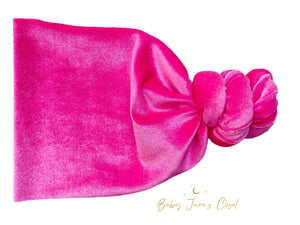 Hot Pink Velvet Top Knot