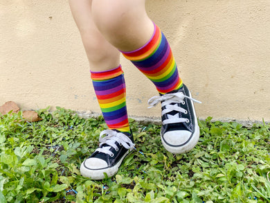 Over the Rainbow Knee High Socks