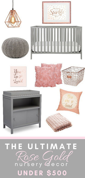 The Ultimate Rose Gold Nursery Decor