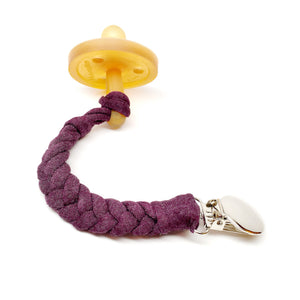 Phantom Cotton Braided Pacifier Clip - Late Night Luna