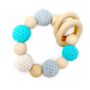 Ocean Breeze Crochet Wood Bead Teething Toy - Late Night Luna