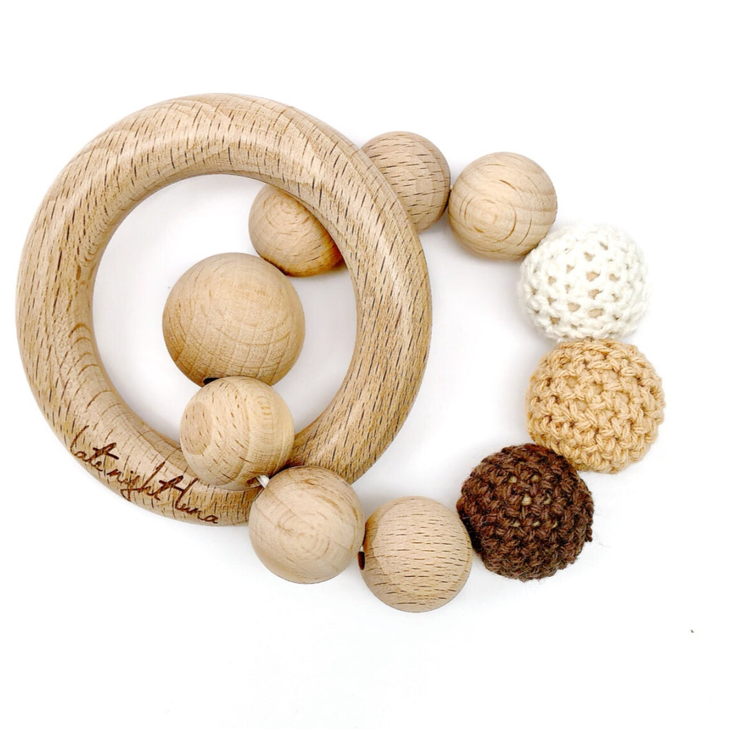 Brown Sugar Beech Wood Teething Toy