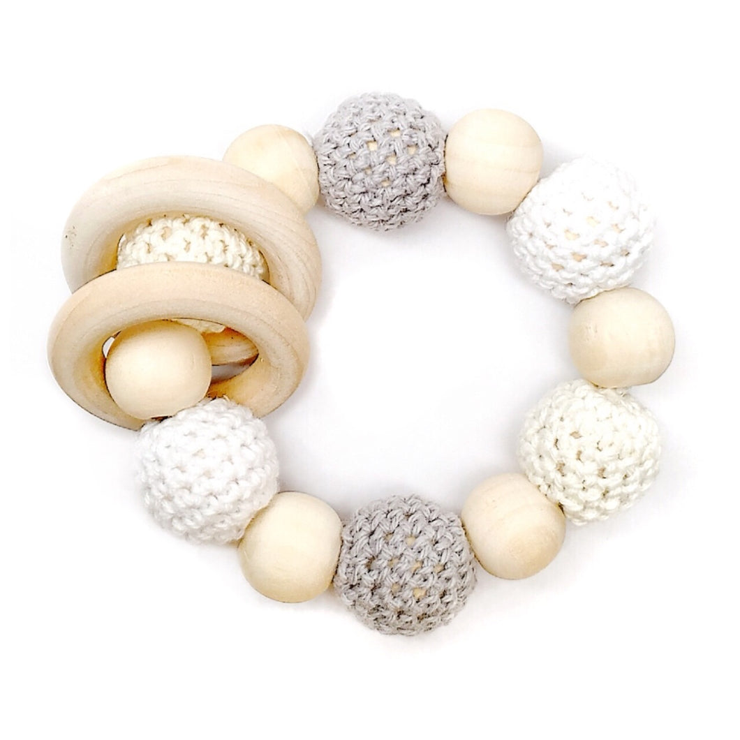 Harbor Crochet Wood Bead Teething Toy - Late Night Luna