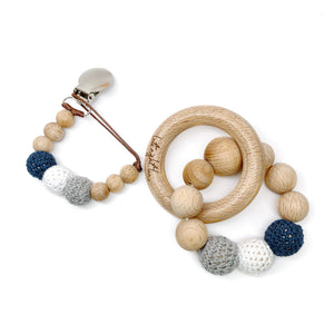 Sailor Beech Organic Wood Bead Pacifier Clips and Teething Toy Baby Shower Gift Each Gift Set comes boxed and ready to give! So whether it is for your baby, a dear friend's baby shower or you are looking for the perfect first holiday gift for a little in your life, this wonder set is sure to be best in show.