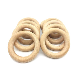 Beech Wood Teething Ring - Late Night Luna